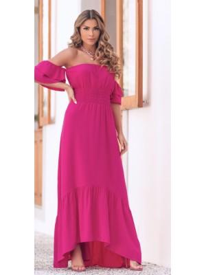 Vestido pink em viscose