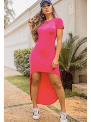 Vestido mullet pink